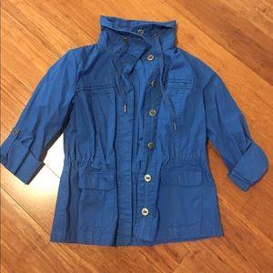 Coldwater Creek Blue Lightweight Jacket